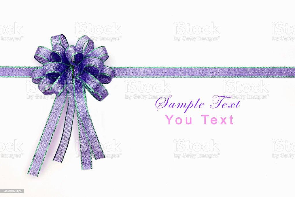 Beautiful bow on white background stock photo