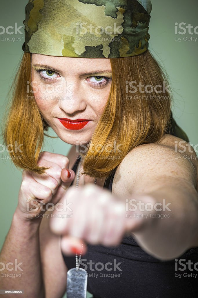 Beautiful boxing girl royalty-free stock photo