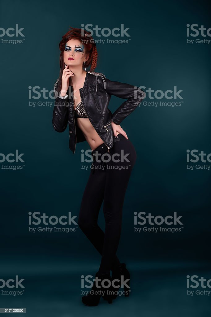 Beautiful breast of young woman in bra royalty-free stock photo
