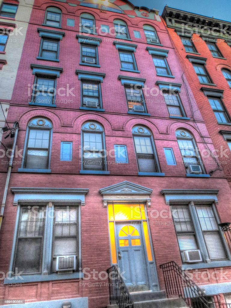 Beautiful Brick Front Building stock photo