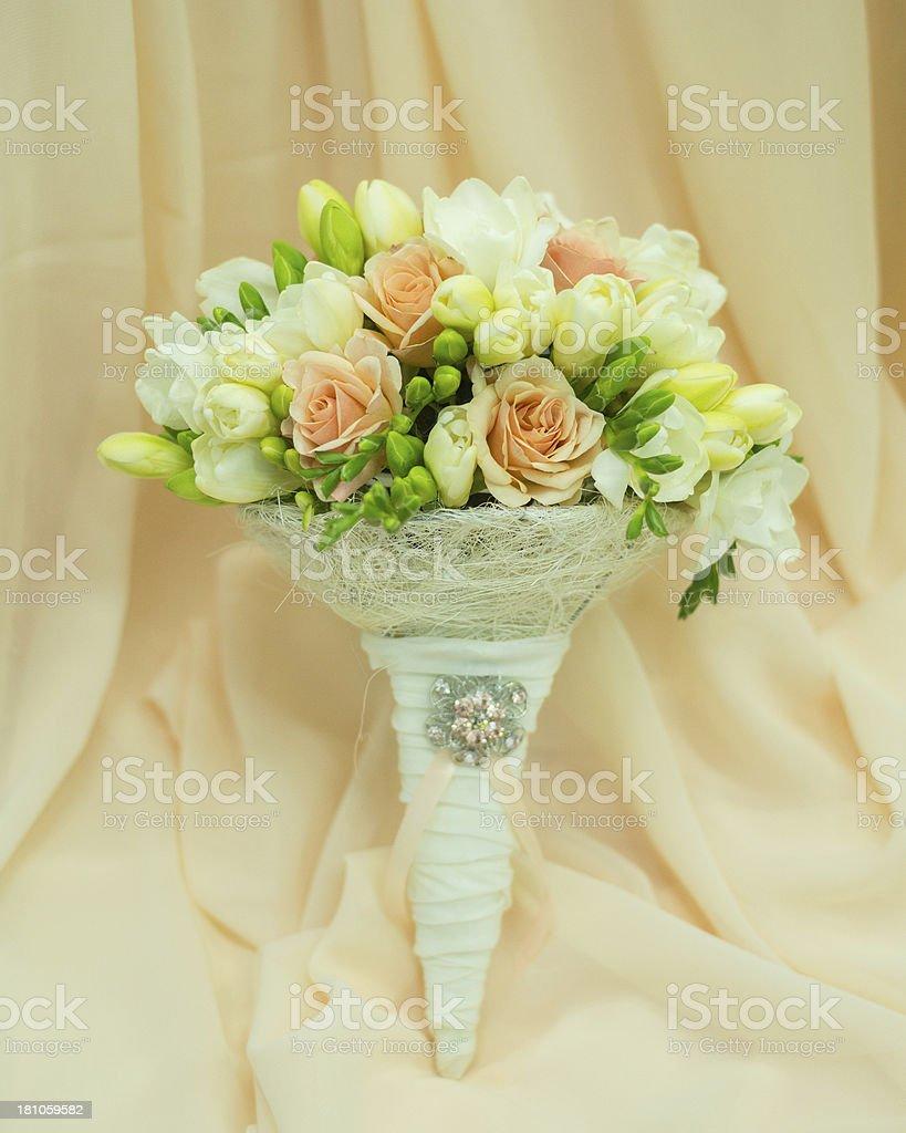 Beautiful bridal bouquet royalty-free stock photo