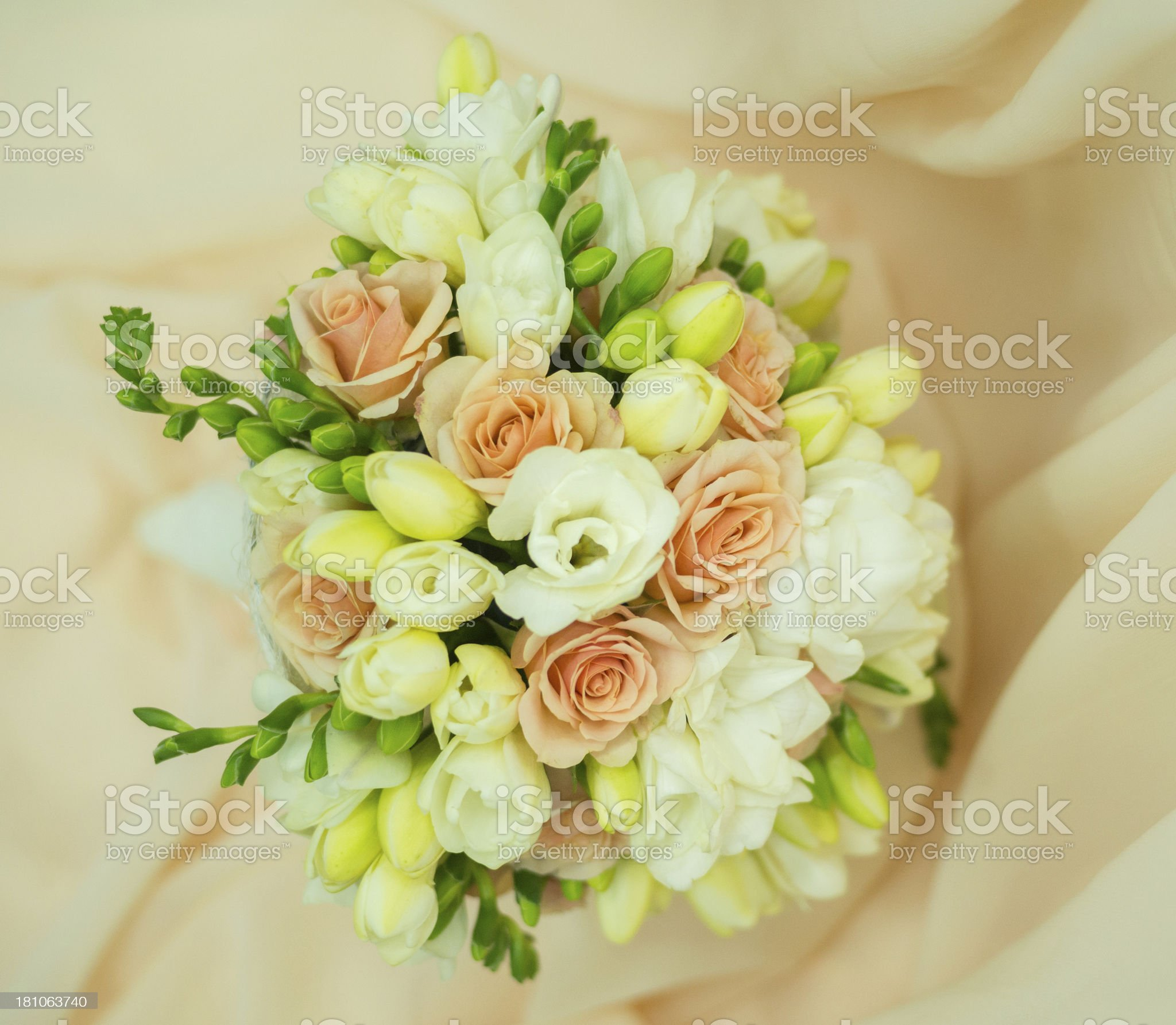 Beautiful bridal bouquet royalty-free stock photo