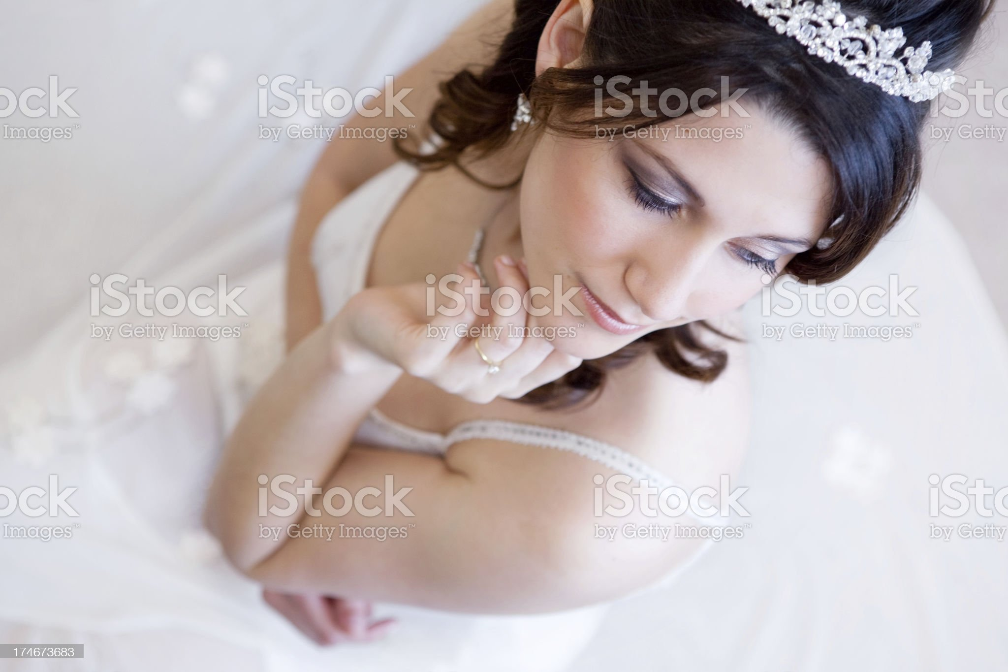 Beautiful Bride Waits royalty-free stock photo