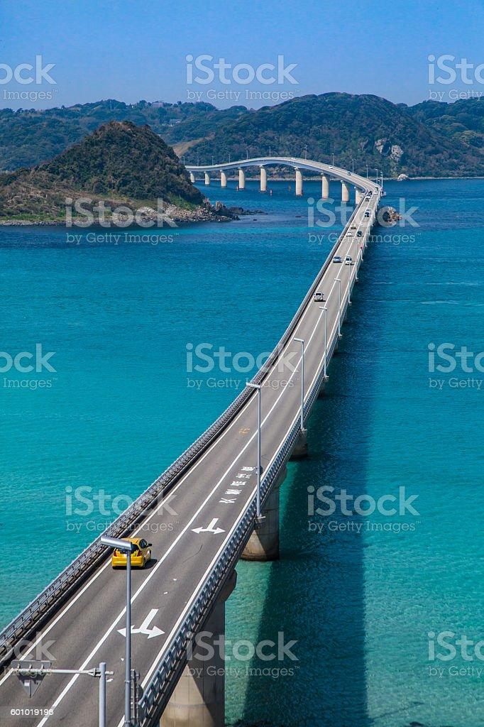 Beautiful bridge of the landscape stock photo