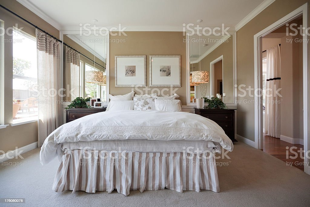 Beautiful Bright Bedroom stock photo