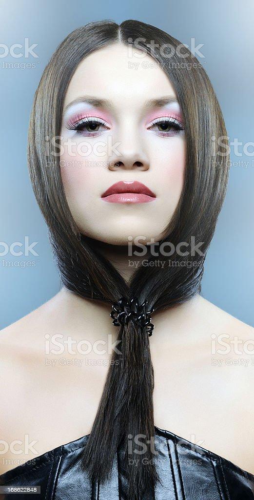 beautiful brown hair woman royalty-free stock photo