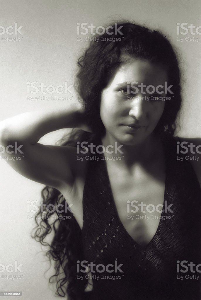 Beautiful brunette 6 royalty-free stock photo