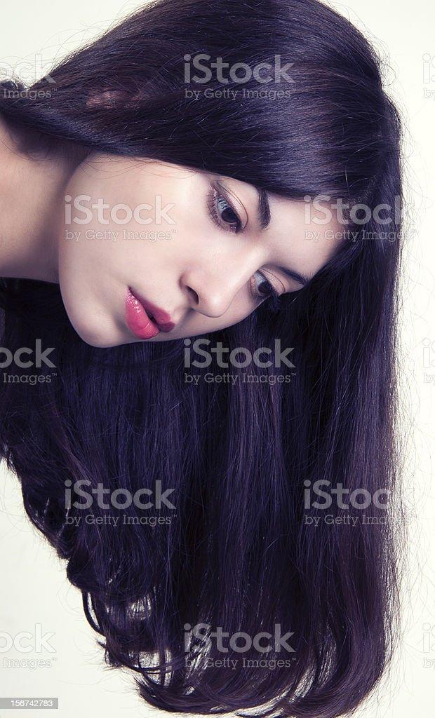 Beautiful Brunette Girl. royalty-free stock photo