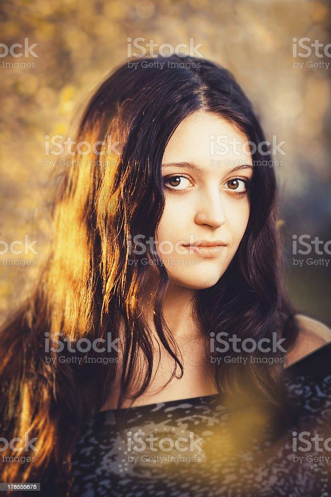 Beautiful brunette girl royalty-free stock photo
