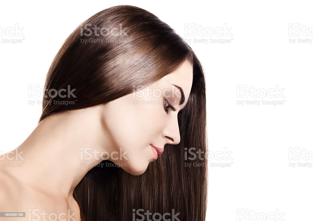 Beautiful Brunette Girl stock photo
