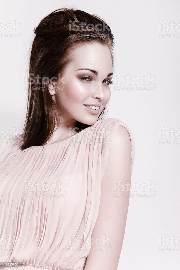 Beautiful brunette girl smile royalty-free stock photo
