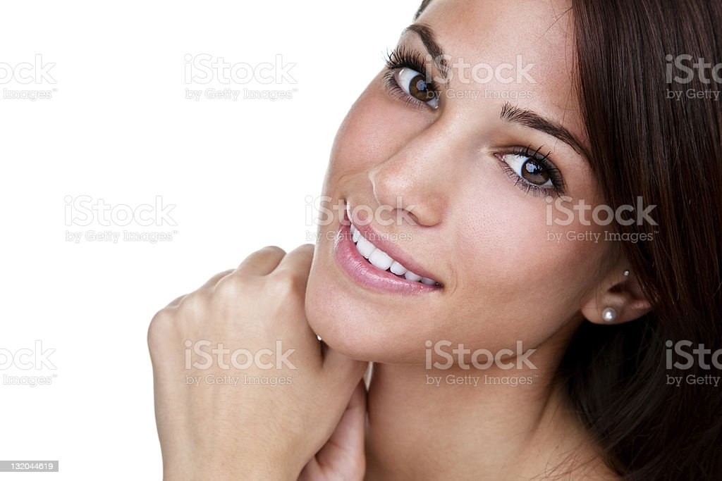 Beautiful brunette royalty-free stock photo