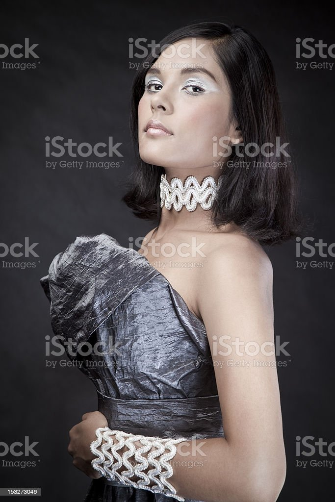Beautiful brunette royalty-free stock photo