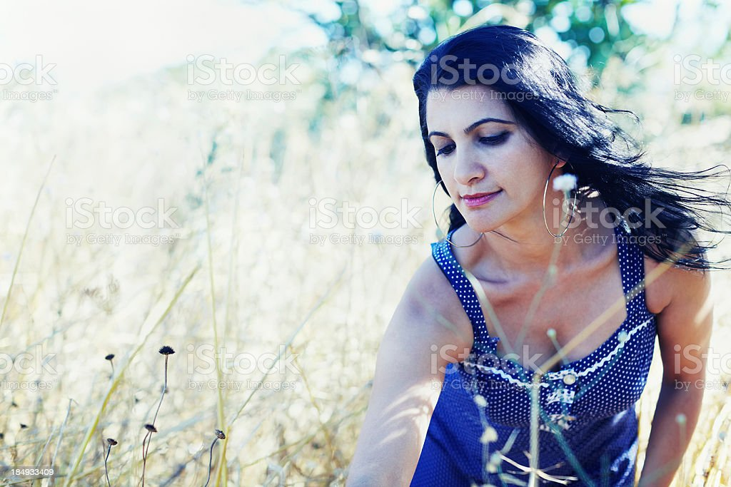Beautiful brunette stock photo