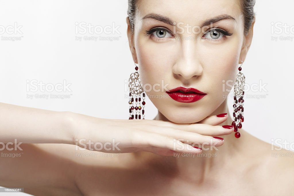 beautiful brunette woman royalty-free stock photo