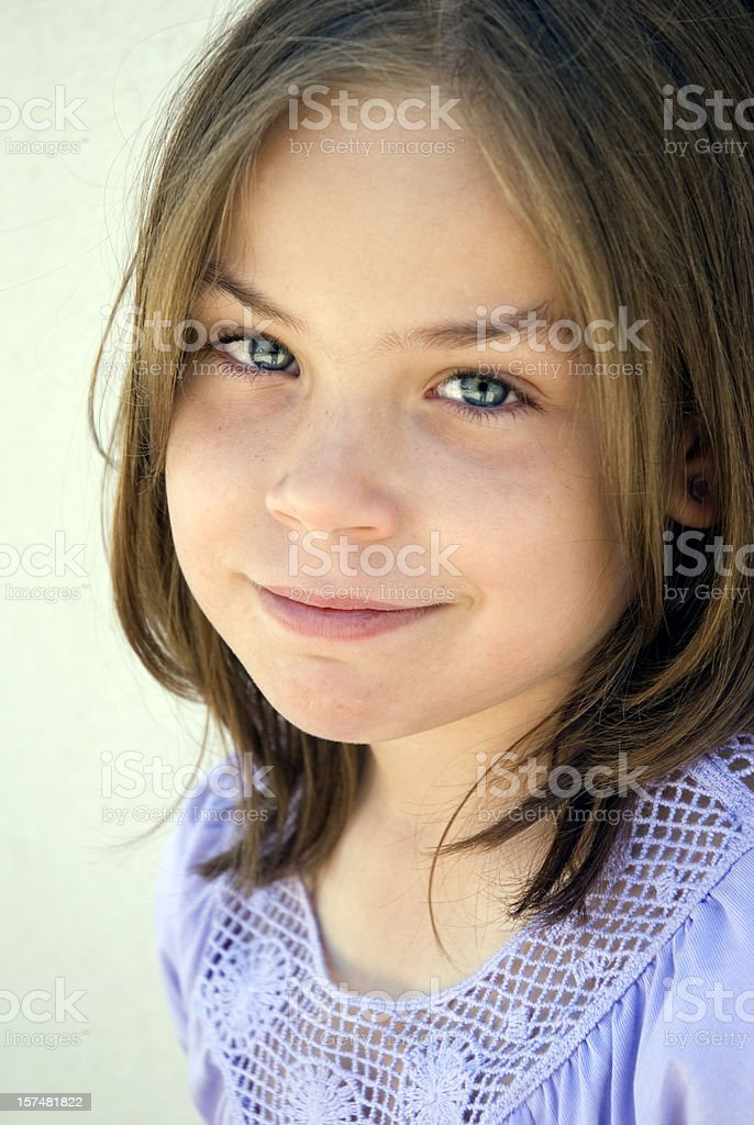Beautiful brunette young girl smirking royalty-free stock photo