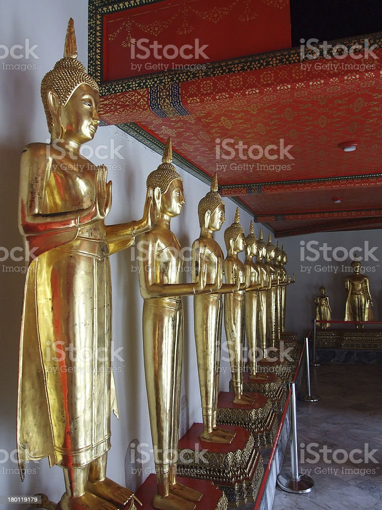 Beautiful Buddha statue in Thailand royalty-free stock photo