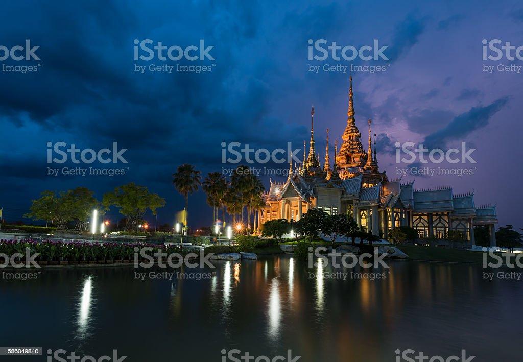 Beautiful buddhist temple, Wat Luang Pho in Nakhon Ratchasima(Korat)Thailand . stock photo