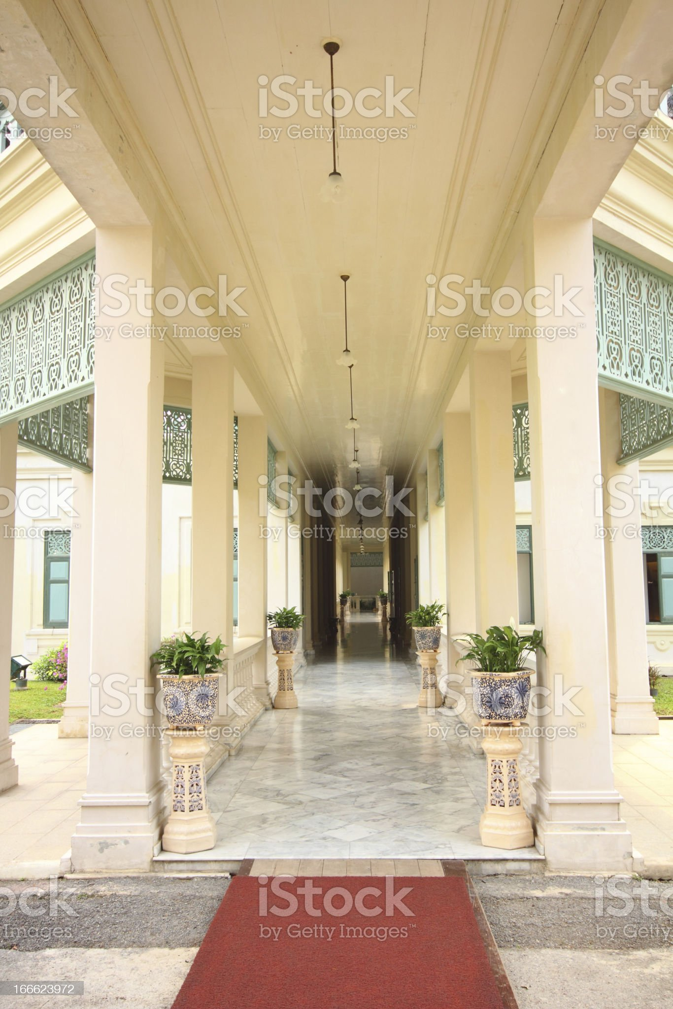 Beautiful building in Sanamchan Palace at Nakhon Pathom province (Thailand) royalty-free stock photo