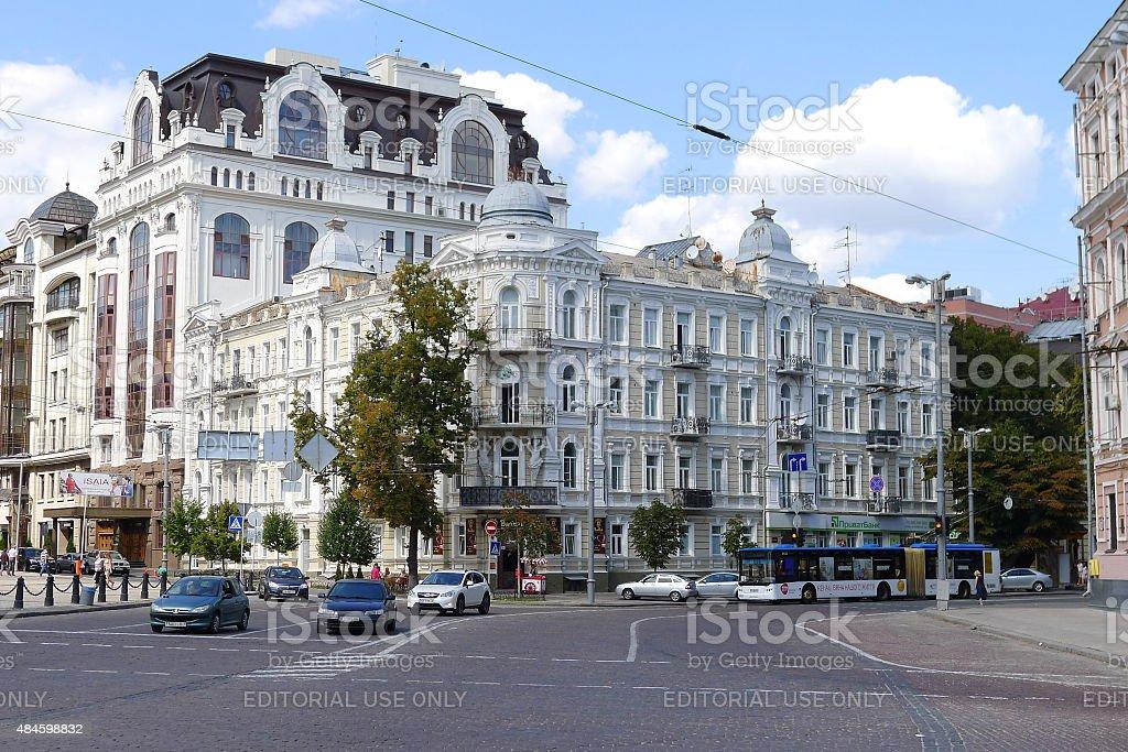 Beautiful building on St. Sofia's Square, Kiev stock photo
