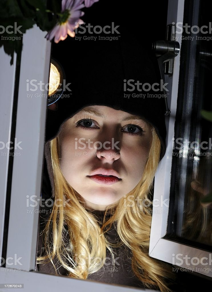 Beautiful Burglar stock photo