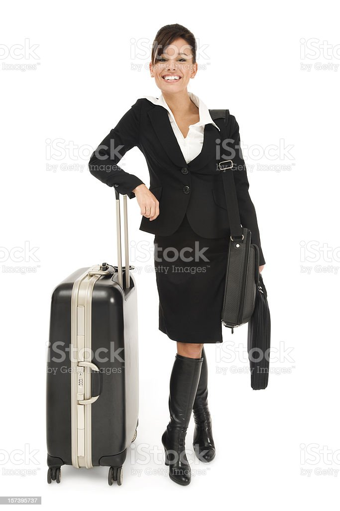 Beautiful Business Traveler royalty-free stock photo