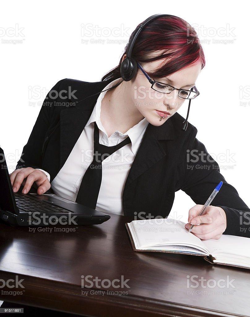 Beautiful business woman royalty-free stock photo