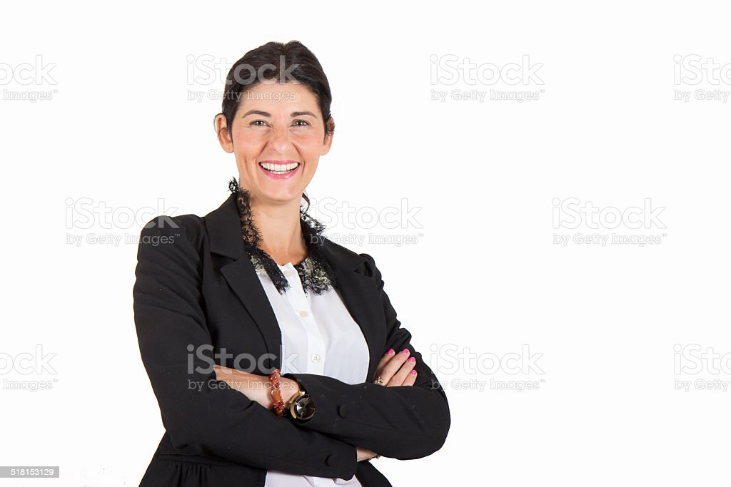 Beautiful business woman smiling 2 stock photo