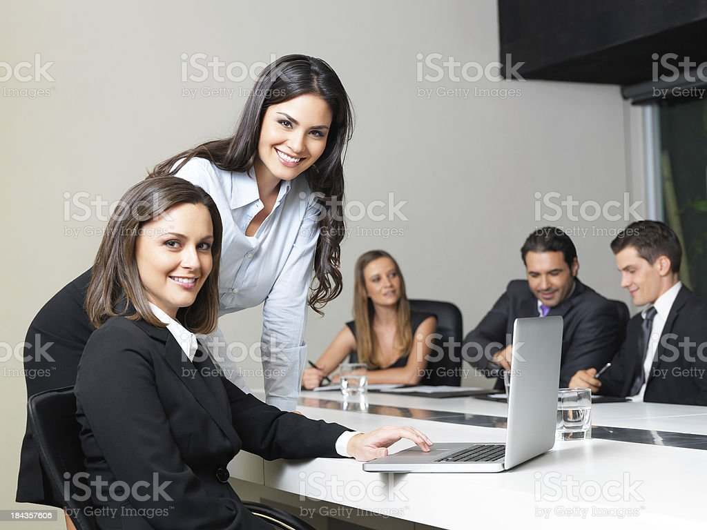 Beautiful business women in the office royalty-free stock photo