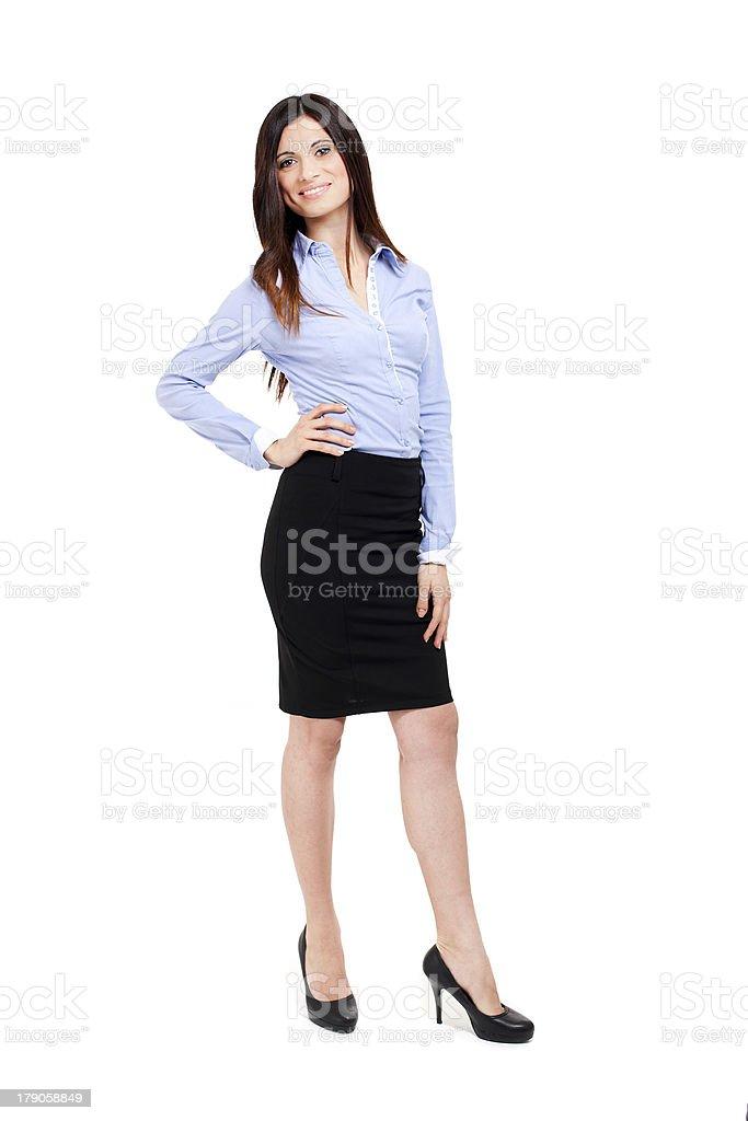 Beautiful businesswoman full length royalty-free stock photo