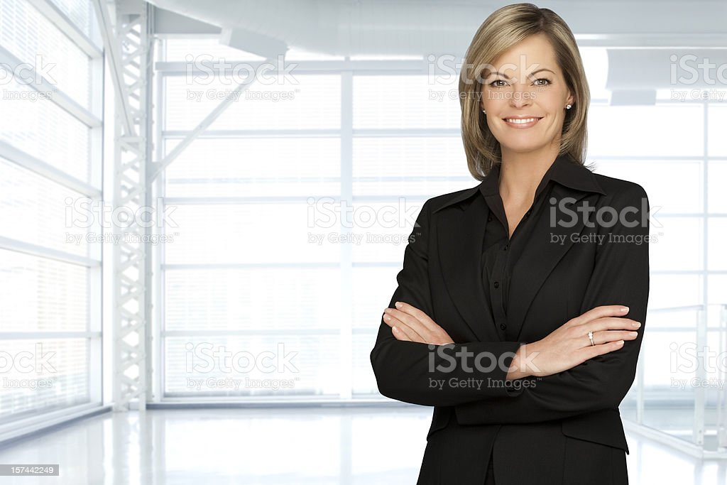 Beautiful Businesswoman In A Modern Office royalty-free stock photo