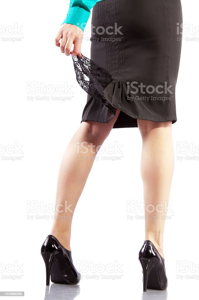 beautiful businesswoman legs in black high heels royalty-free stock photo