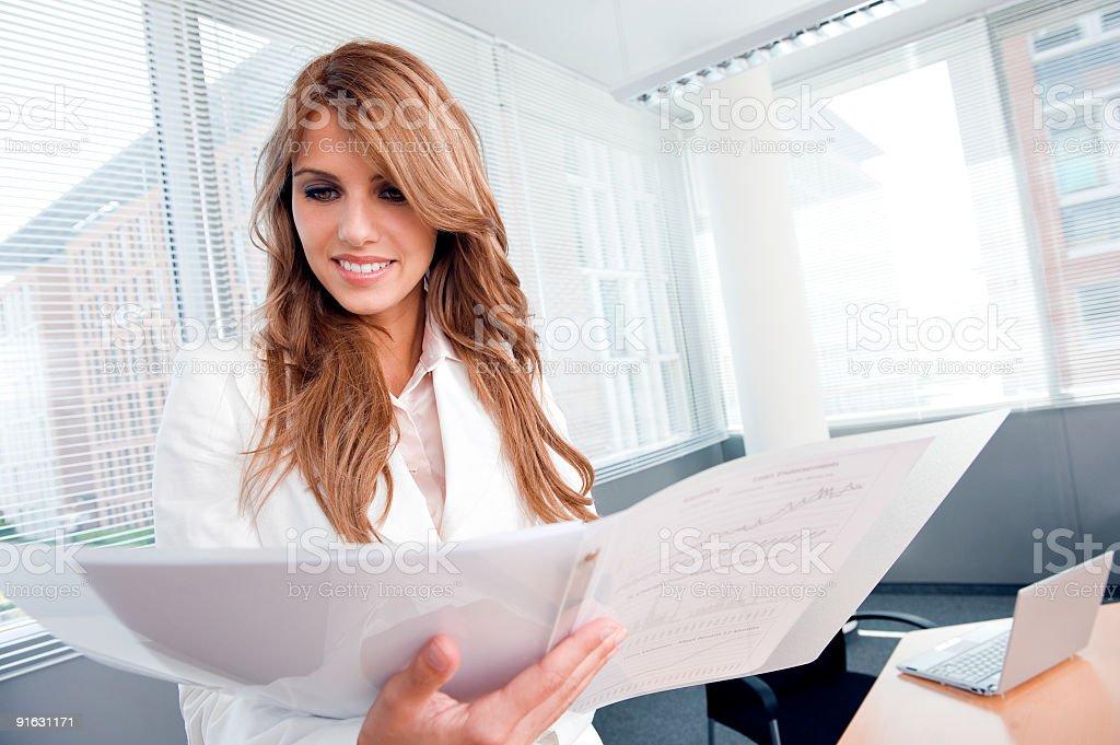 Beautiful businesswoman royalty-free stock photo