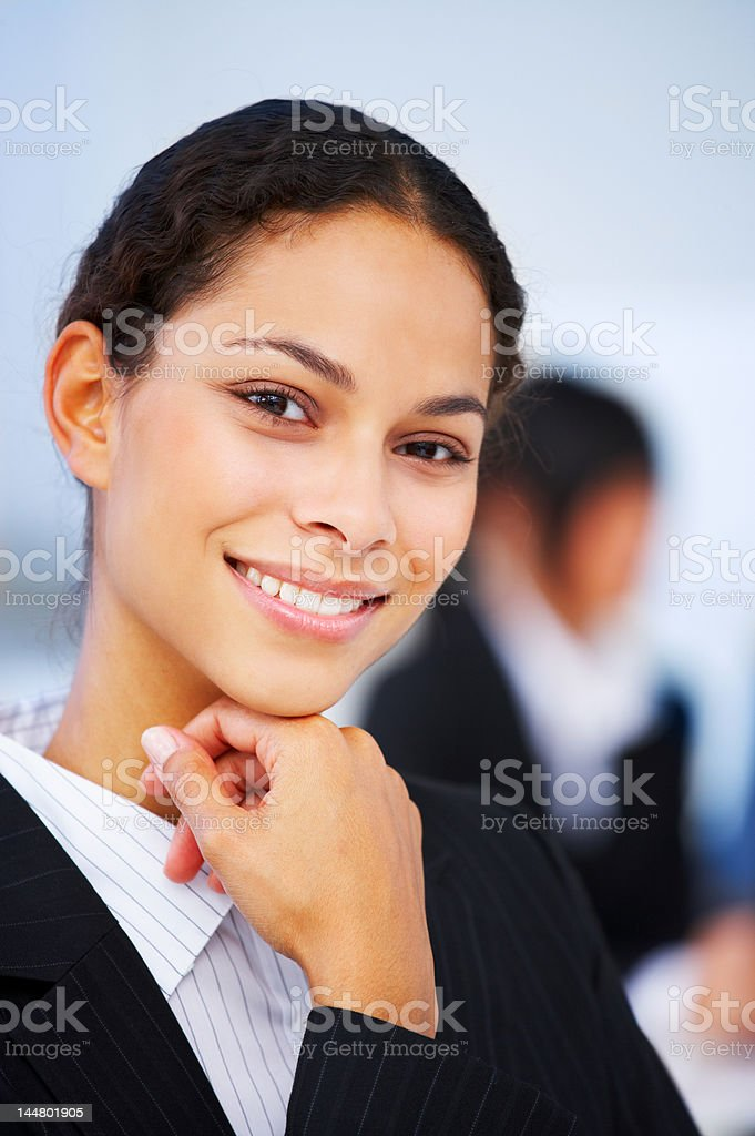 Beautiful businesswoman smiling royalty-free stock photo