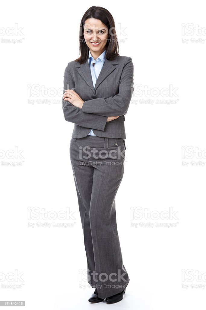 Beautiful businesswoman with her arms crossed royalty-free stock photo