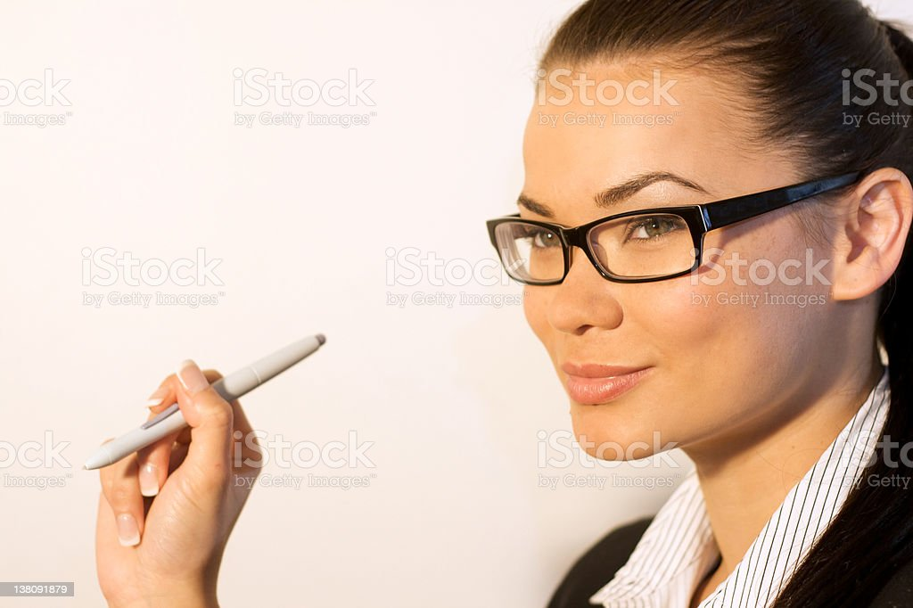 Beautiful Businesswoman with stylus royalty-free stock photo