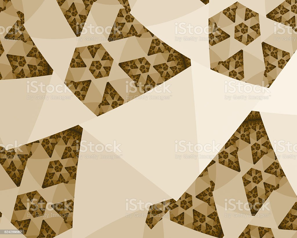 Beautiful Butterfly Shaped Fractal stock photo
