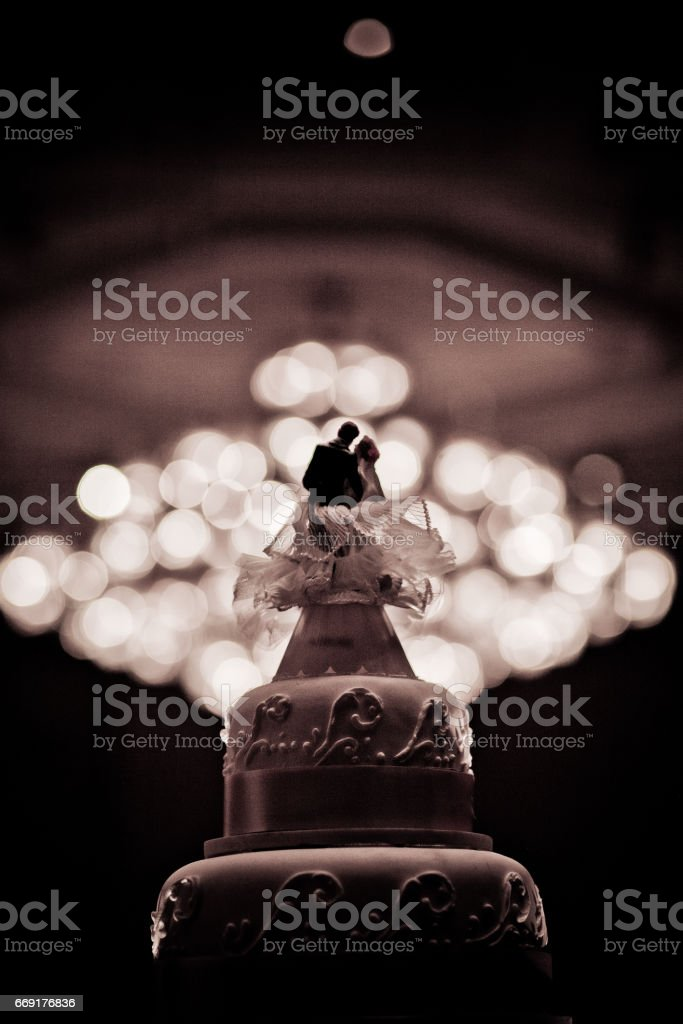 Beautiful Cake decorate for Wedding Ceremony stock photo