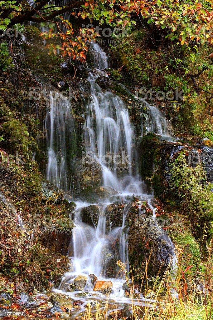 Beautiful California waterfall in Fall stock photo
