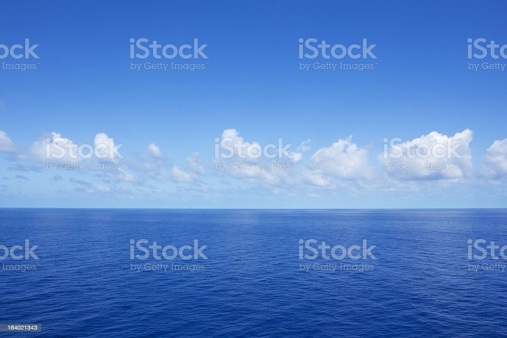 Beautiful Calm Ocean View royalty-free stock photo