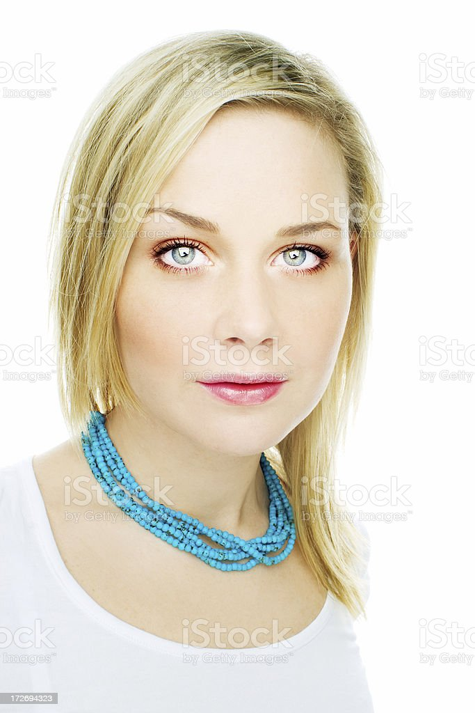 Beautiful calm woman royalty-free stock photo