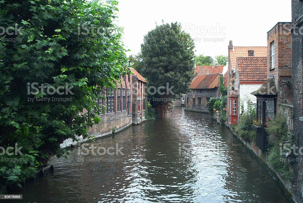 Beautiful canal in Brugges, Belgium royalty-free stock photo