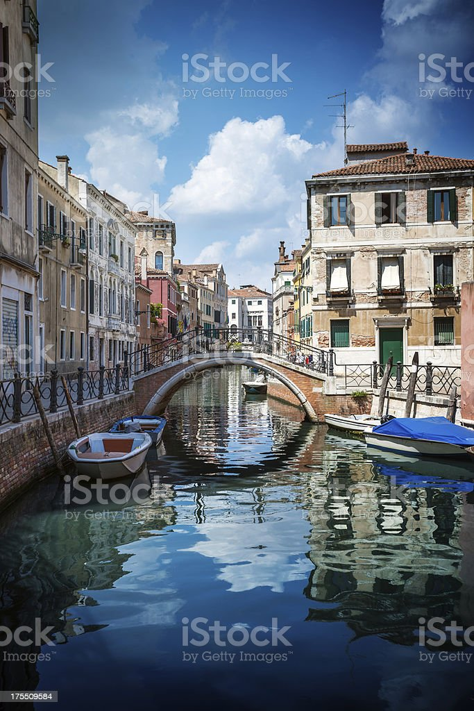 Beautiful Canal in Venice - Italy royalty-free stock photo