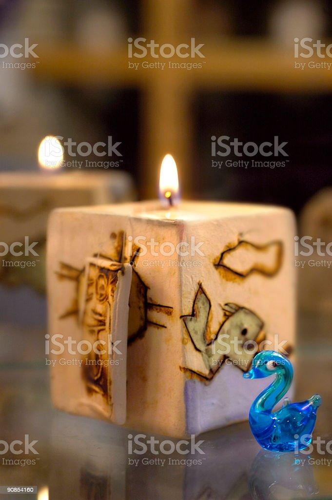 Bellissimo candela supporto foto stock royalty-free