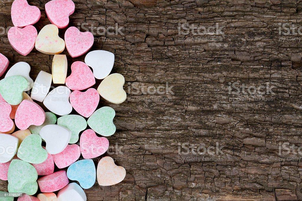 beautiful candy hearts stock photo