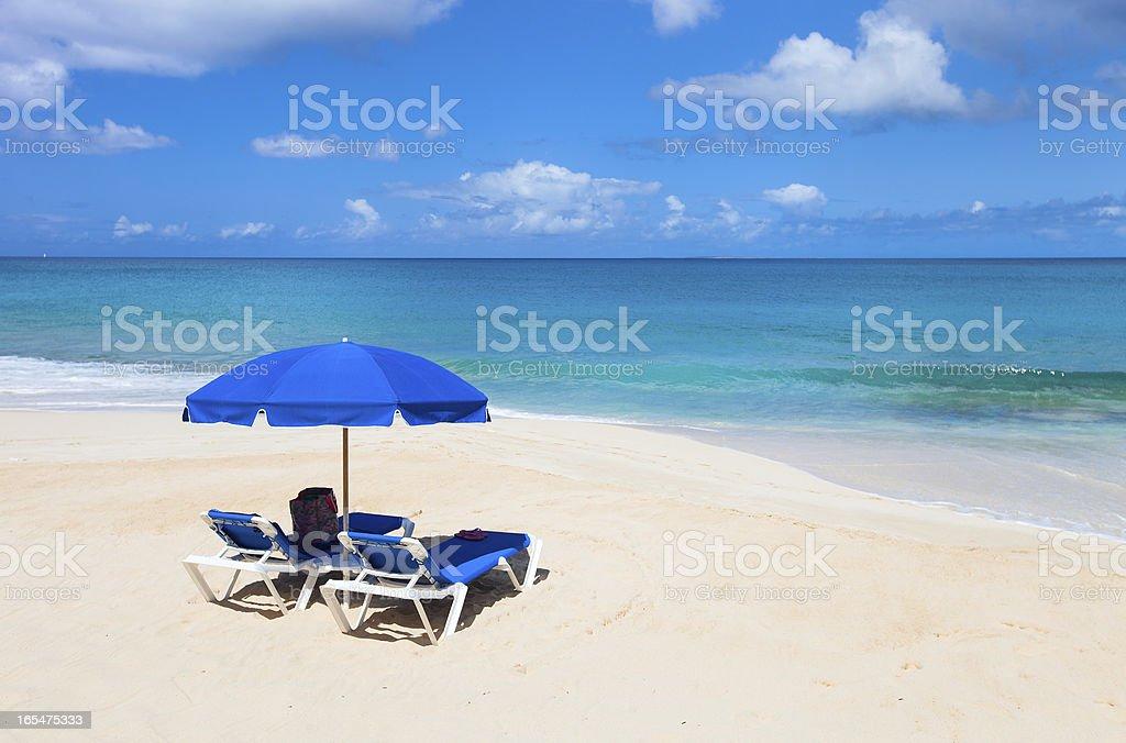 Beautiful Caribbean beach royalty-free stock photo