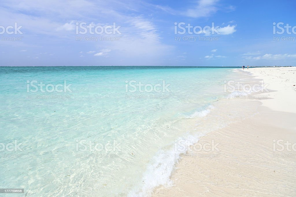 Beautiful Caribbean beach stock photo