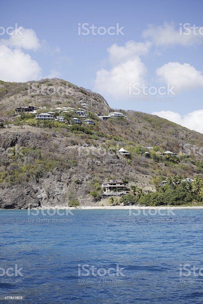 A beautiful Caribbean scene in Antigua. royalty-free stock photo