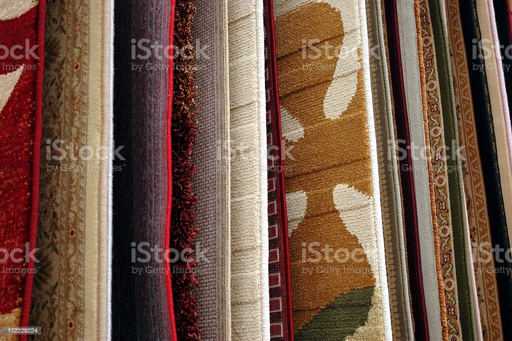 Beautiful carpet samples to match any room  stock photo