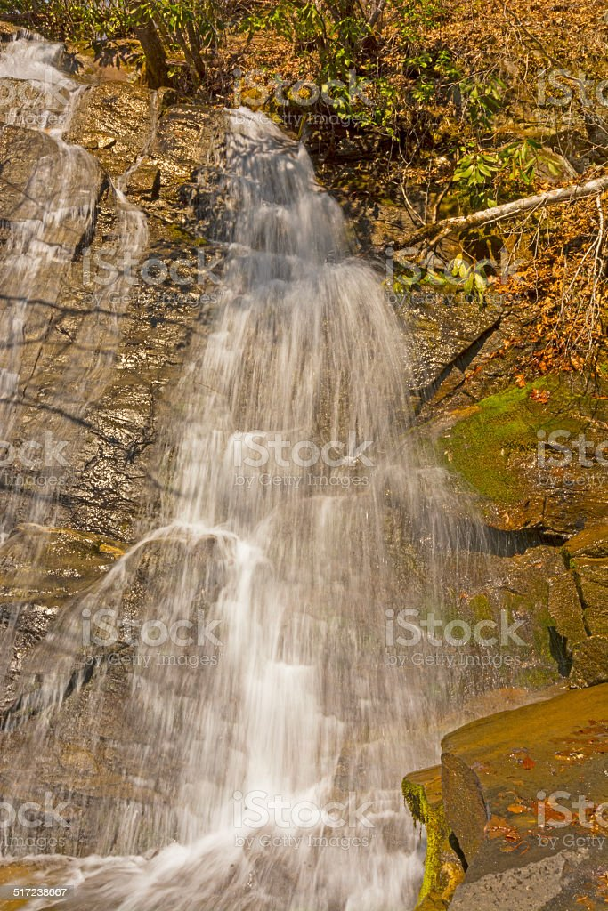 Beautiful Cascade in the Mountains stock photo